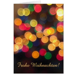 Deutscher: Frohe Feiertage Lichter Grußkarte