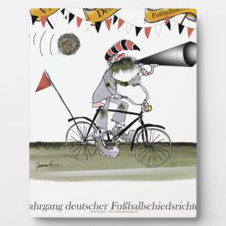 deutscher Fußballreferent Fotoplatte