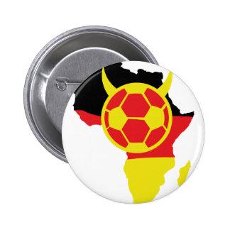 deutscher Fußballteufel Afrika-Ikone Runder Button 5,7 Cm