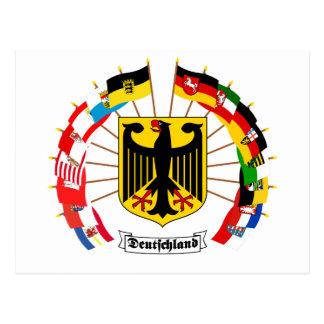 Deutscher kennzeichnet Pinwheel Postkarten