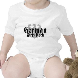 Deutscher Mädchen-Felsen Strampler