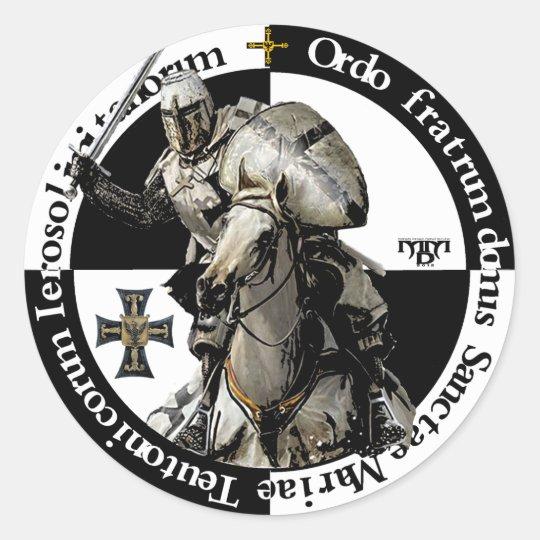 Deutscher Orden Ritter im Angriff Aufkleber