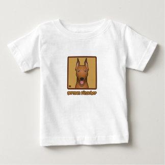 Deutscher Pinscher-Cartoon Baby T-shirt