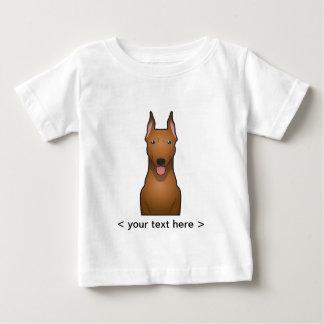 Deutscher Pinscher-Cartoon personalisiert Baby T-shirt