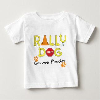 Deutscher Pinscher-Kundgebungs-Hund Baby T-shirt