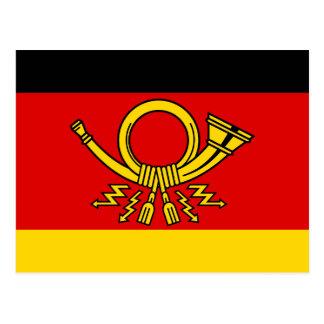 Deutscher Posten-Minister, Deutschland-Flagge Postkarte