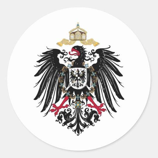 Deutscher Reichsadler Runder Aufkleber