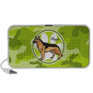 Deutscher Schäfer hellgrüne Camouflage Tarnung Mobile Lautsprecher