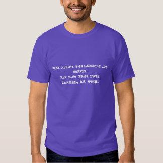 Deutscher Text - da Vinci Hemd