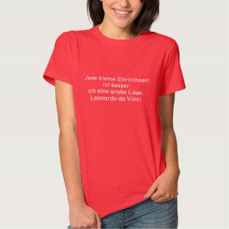 Deutscher Text - da Vinci T Shirts