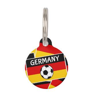 Deutscher Tricolour Flaggen-Fußball Haustiermarke