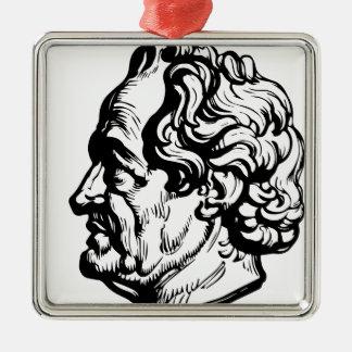 Deutscher Verfasser Goethe Silbernes Ornament