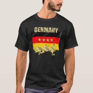 Deutscher verficht Vier-Sterneflagge Vierte Heck T-Shirt