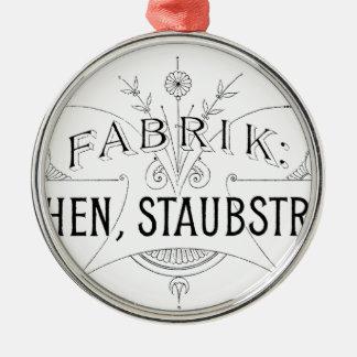 deutscher Vintager Typografieentwurf Silbernes Ornament