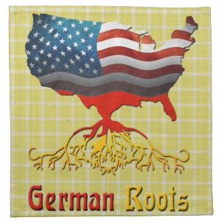 Deutscher wurzelt amerikanische Karten-Servietten Serviette
