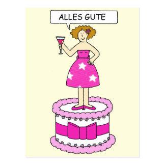 Deutsches alles Gute zum Geburtstag, Alles Gute. Postkarten