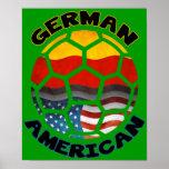 Deutsches amerikanisches Fußball-Plakat Poster