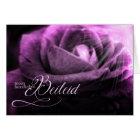 Deutsches Beileids-tiefe Lavendel-Rose Karte