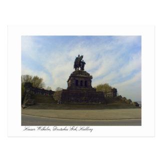 Deutsches Eck, Kaiser Wilhelm, Koblenz, Postkarte