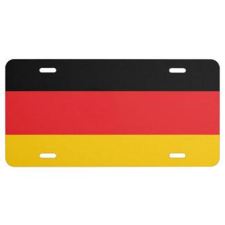 Deutsches Flaggen-Kfz-Kennzeichen US Nummernschild