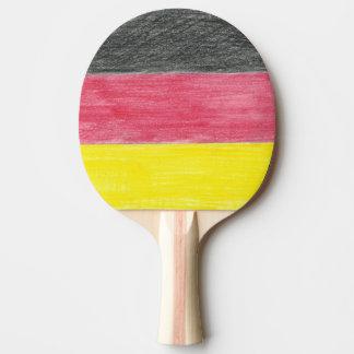 Deutsches Flaggen-Klingeln Pong Paddel Tischtennis Schläger