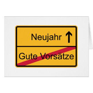 Deutsches Ortsschild Karten
