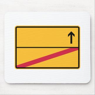Deutsches Ortsschild, Ortsausfahrt Mousepad