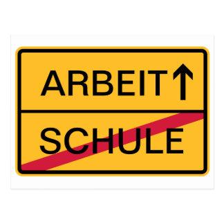 Deutsches Ortsschild, Ortsausfahrt Postkarten