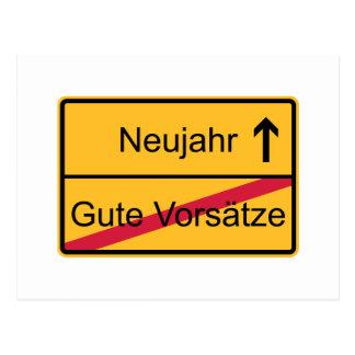 Deutsches Ortsschild Postkarte