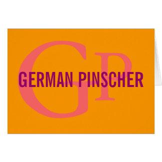 Deutsches Pinscher-Zucht-Monogramm Karte