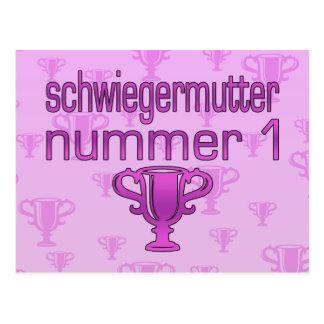Deutsches Schwiegermutter-Geschenk Schwiegermutter Postkarte