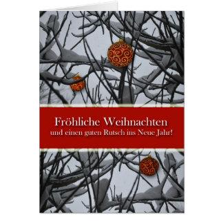 Deutsches Weihnachten, Verzierungen im Schnee Karte