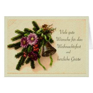 Deutsches Weihnachten, Weihnachtsfest Vintage Karte