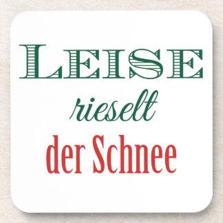 Deutsches Weihnachtslied klassisches Weihnachten Getränke Untersetzer