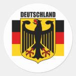 Deutschland 2 runder aufkleber