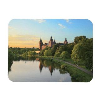 Deutschland, Aschaffenburg, Schloss (Schloss) Recchteckiger Magnet