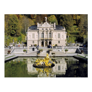 Deutschland, Bayern, Linderhof Schloss. Linderhof Postkarte