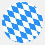 Deutschland-Bayern-Qualitäts-Flagge Runder Aufkleber