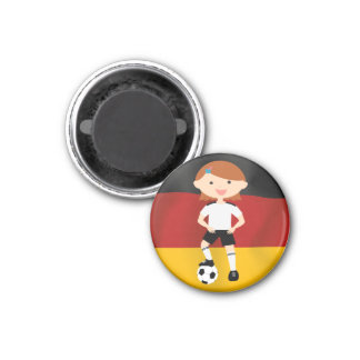 Deutschland Deutschland Fußball Mädchen 3 Runder Magnet 2,5 Cm