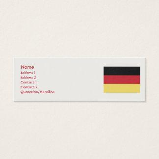 Deutschland - dünn mini visitenkarte