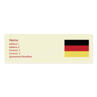 Deutschland - dünn visitenkartenvorlagen