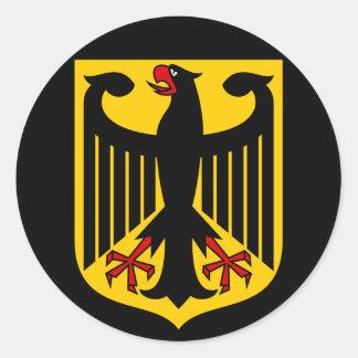 Deutschland-Emblem Runder Aufkleber