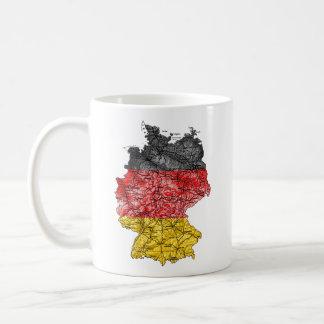Deutschland eText ~ Flagcolor Karten-Tasse Kaffeetasse