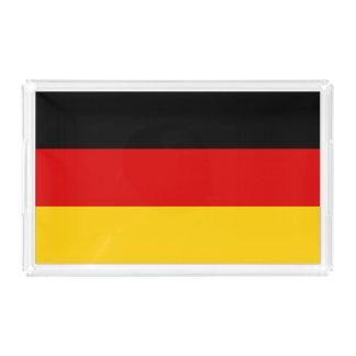 Deutschland-Flagge Acryl Tablett