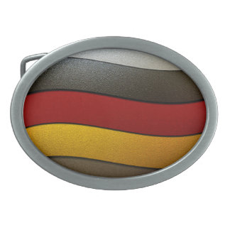 Deutschland-Flagge Farbe-Chrom durch Shirley Ovale Gürtelschnalle