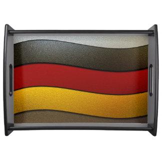 Deutschland-Flagge Farbe-Chrom durch Shirley Serviertablett