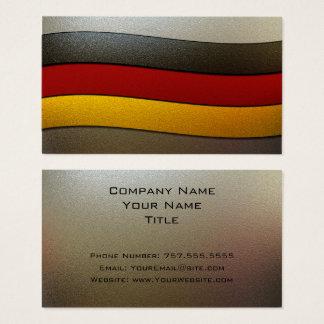 Deutschland-Flagge Farbe-Chrom durch Shirley Visitenkarte