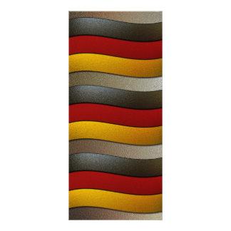 Deutschland-Flagge Farbe-Chrom durch Shirley Werbekarte