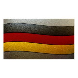Deutschland-Flagge Farbe-Chrom Visitenkarten