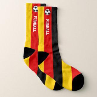 Deutschland-Flagge Fußball und Ihr Text Socken